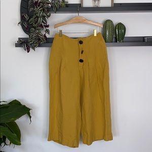 Zara high waist wide leg pants size M